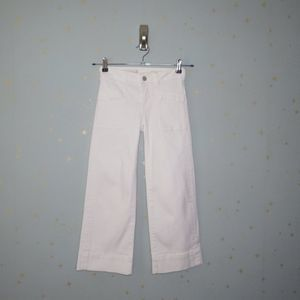 Anthro Pilcro | White Cropped Flare Jeans